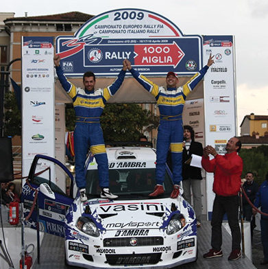 Giandomenico Basso & Mitia Dotta, with the Grande Punto Abarth S2000, are European Rally Champions for the 2nd time in their career