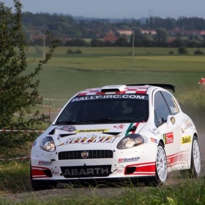 Giandomenico Basso & Mitia Dotta win the European Rally Championship with the Grande Punto Abarth S2000